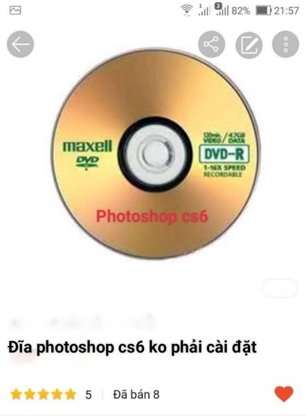 Bảng giá đĩa photoshop cs6 ko cần cài đặt Phong Vũ