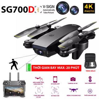 (NEW 2020)TẶNG BALO - FLYCAM SG700D Camera 4K HD, Hai camera kép, thời gian bay 20p, Wifi 2.4G tích hợp tối đa các thiết bị di động - HÀNG CHÍNH HÃNG BẢO HÀNH 3 THÁNG
