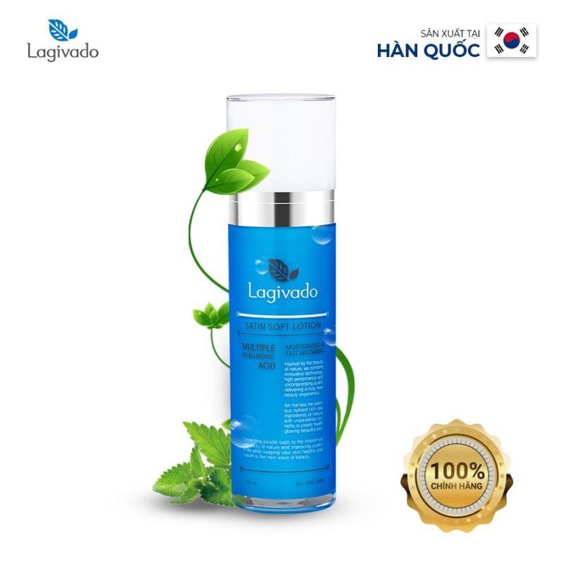 Sữa Dưỡng Da Mặt chính hãng Hàn Quốc  Lagivado Satin Soft Lotion cấp ẩm tốt cho da 120 ml – Màu Xanh cao cấp
