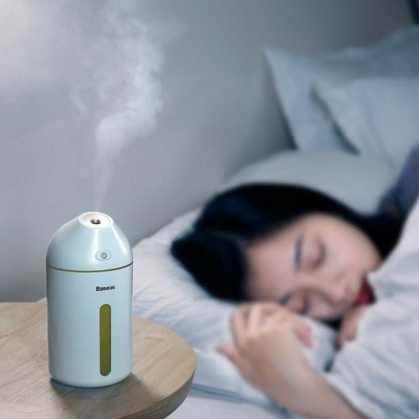 Máy phun sương tạo ẩm không khí Baseus Cute Mini  cho ô tô , phòng ngủ, văn phòng 320ml cho thời gian sử dụng từ 10h đến 20h