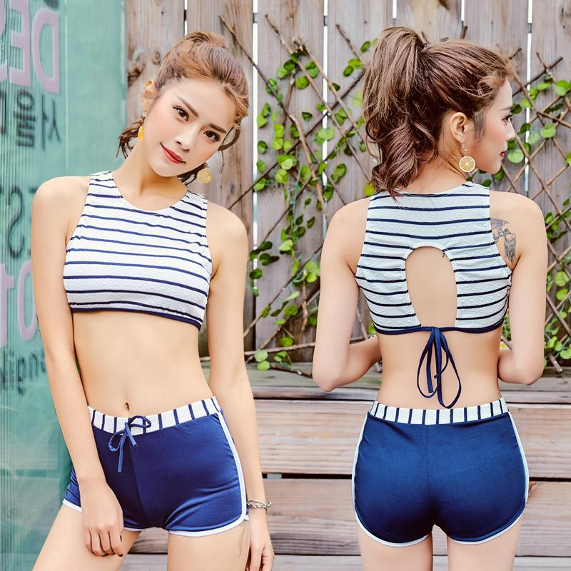 811a881336c82 Split Type Two-Piece Set Hipster girl women New Style Bathing Suit Holiday  Xue Sheng