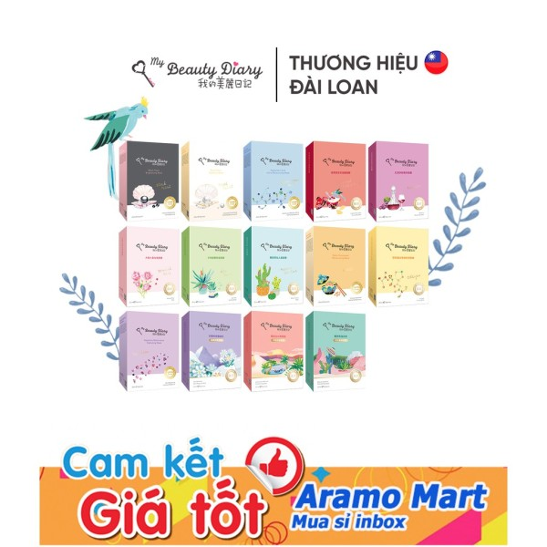 [FREESHIP] Hộp 8 miếng mặt nạ My Beauty Diary Chính hãng Đài Loan các loại *AramoMart* nhập khẩu