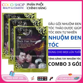 Dầu gội nhuộm đen tóc tại nhà bằng thảo dược Hàn Quốc - coco shop hn thumbnail