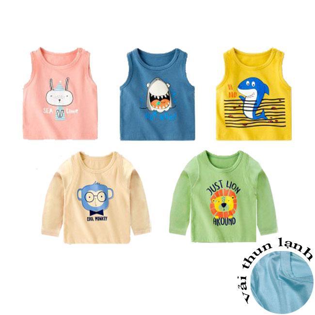 Áo phông cotton thun lạnh QATE571/573 cho bé trai và bé gái, chất liệu mềm mịn, bền đẹp, dễ chịu, đa dạng màu sắc và kiểu dáng