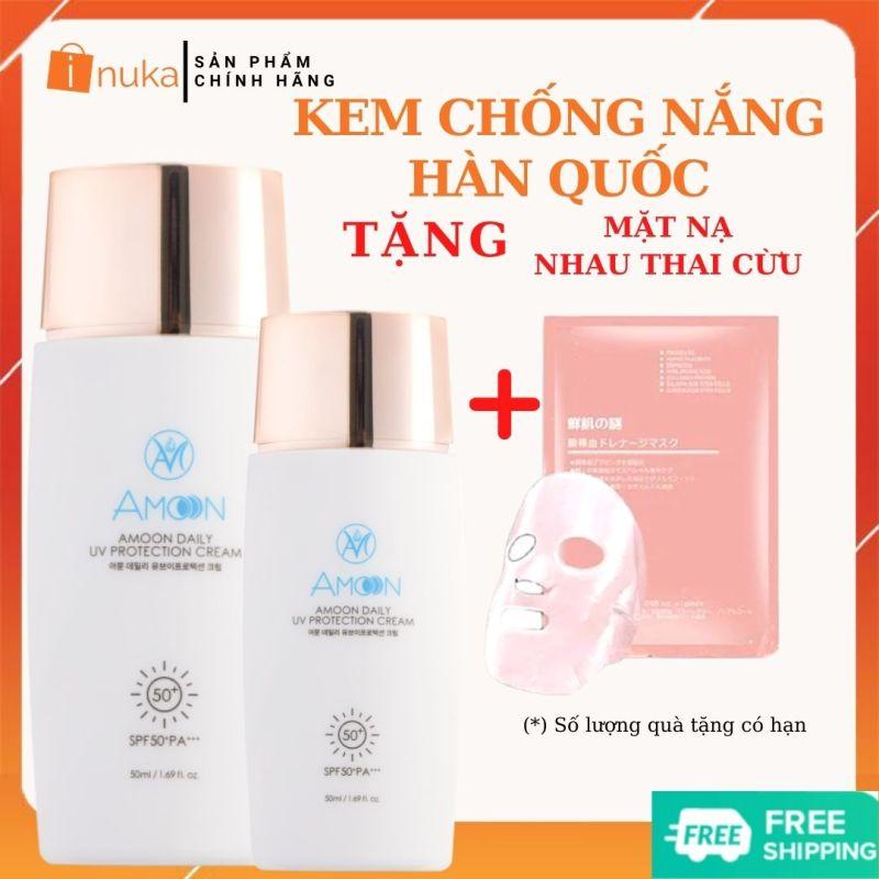 [Hàng Hàn Quốc] Kem chống nắng cho da mặt, da dầu mụn amoon inuka nhập chính hãng từ Hàn Quốc. Chống nắng toàn thân, trắng da, hiệu quả hơn xịt chống nắng (50ml) inuka.store nhập khẩu