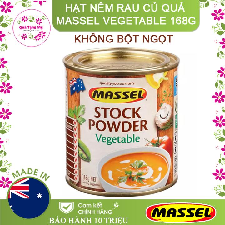 Hạt nêm Massel Rau Củ Quả 100% Không Chứa Bột Ngọt 168g - Nhập khẩu Australia