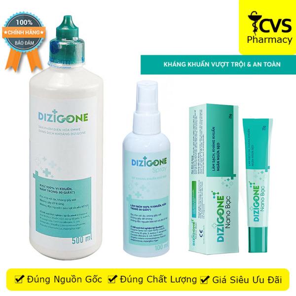 [HCM]Bộ sản phẩm DIZIGONE kháng khuẩn – tái tạo da – ngăn ngừa sẹo - cvspharmacy