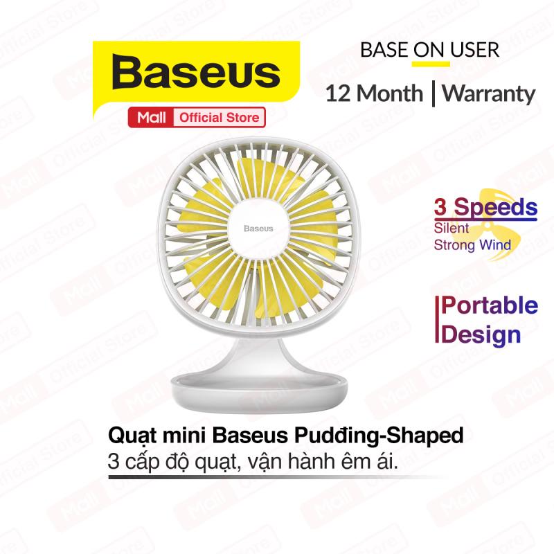 Quạt mini để bàn Baseus Baseus Pudding-Shaped Fan ( 3 mức tốc độ - Mini USB Air Cooling Fan Clip Desk Fan)