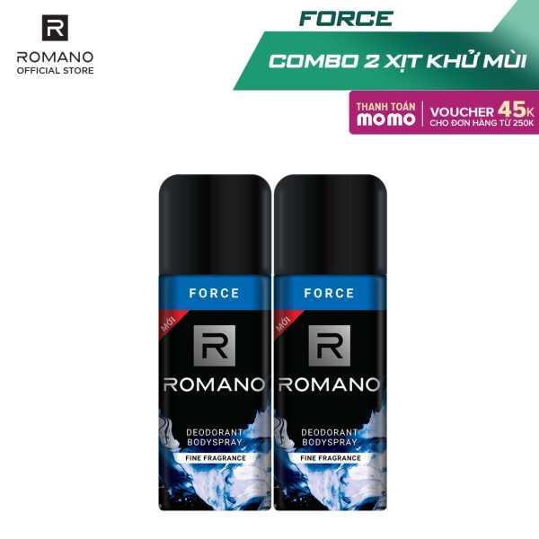Combo 2 Xịt toàn thân Romano Force tươi mát năng động 150ml giá rẻ