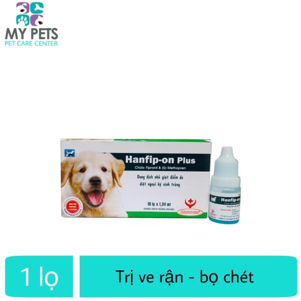 Thuốc nhỏ sống lưng trị ve, bọ chét cho chó mèo -  Hanfip-on Plus