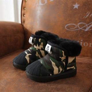 Trẻ Em Boot Đi Tuyết Trai 2020 Mẫu Mới Giữ Ấm Chống Trượt Bông Trẻ Em Giày Mùa Đông Bé Gái Mịn Hơn Dày Hơn Trẻ Con thumbnail