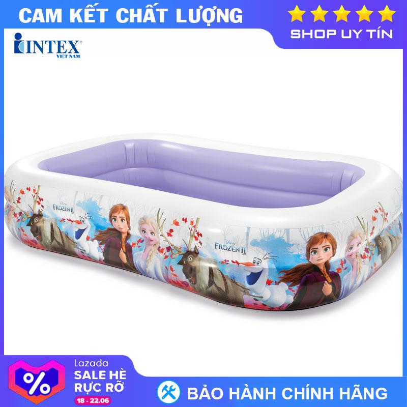 Bể Bơi Phao Chữ Nhật Nữ Hoàng Băng Giá Frozen INTEX 58469 - Hồ Bơi Cho Bé Mini, Bể Bơi Phao Trẻ Em Giá Sốc Nên Mua