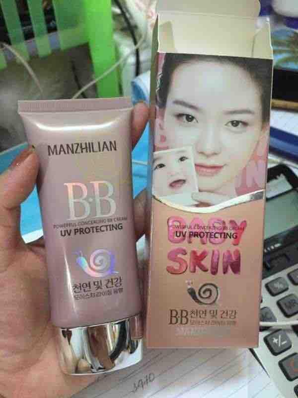 Kem nền nữ BB cream ỐC SÊN Baby Skin MANZHILIAN UV PROTECTING KOREA - HX1364