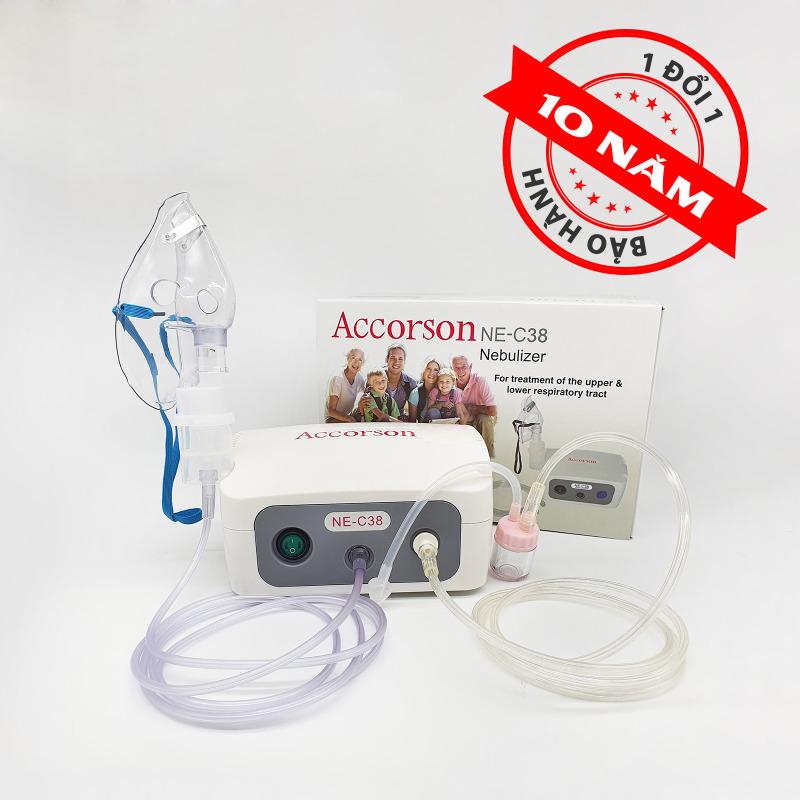 [NHẬP KHẨU ANH] Máy khí dung, máy xông hút mũi 2 trong 1 Accorson NE C38 – Chuyên đ𝐢𝐞̂̀𝐮 𝐭𝐫𝐢̣ viêm phổi, viêm phế quản, viêm xoang