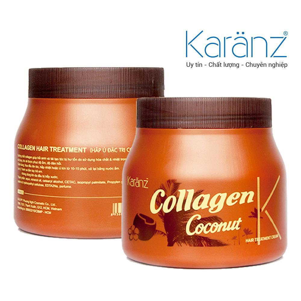Hấp ủ tóc Collagen hương Coconut Karanz 1000ml nhập khẩu