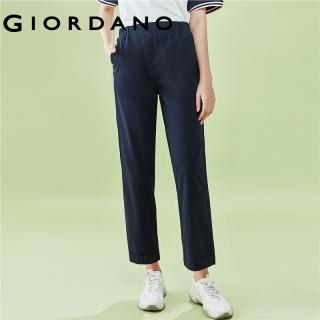 Quần tây nữ chất liệu cao cấp lưng thun thoải mái có túi tiện lợi thời trang quốc tế Giordano 05420354 thumbnail