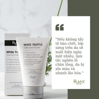 Gel tẩy tế bào chết da mặt, tẩy lớp sần, giúp da sáng mịn White Truffle THE PLANT BASE 50ML [ AUT KOREA 100% ] thumbnail
