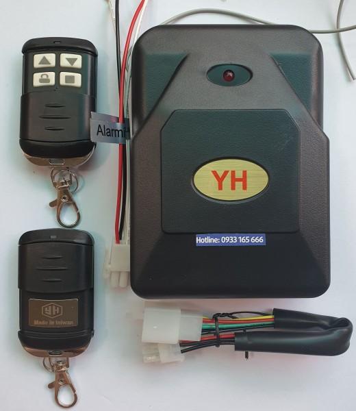 Bộ hộp điều khiển cửa cuốn tự động TAIWAN 8 mã gạt 433 chống nước như hình có giắc tự ngắt + đấu còi + giắc chuyển đổi...