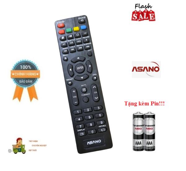 Bảng giá Remote Điều khiển TV Asano ngắn - Hàng mới chính hãng 100% tặng kèm Pin