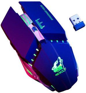 Chuột chuyên Game không dây pin sạc FreeWolf X11 - Led 7 màu tự chuyển (Màu ngẫu nhiên) - Phụ Kiện 1986 thumbnail
