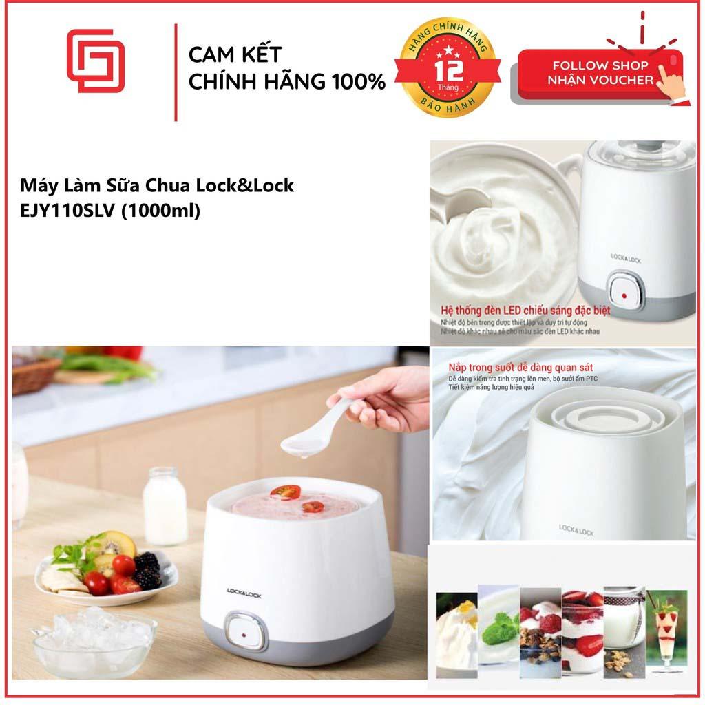 [CHÍNH HÃNG] Cách Làm Sữa Chua Bằng Máy,Top 5 máy làm sữa chua tốt nhat Nên Mua - Máy Làm Sữa Chua Lock&Lock EJY110SLV Thiết kế hiện đại, màu sắc trang nhã, Công suất hoạt động hiệu quả 20W