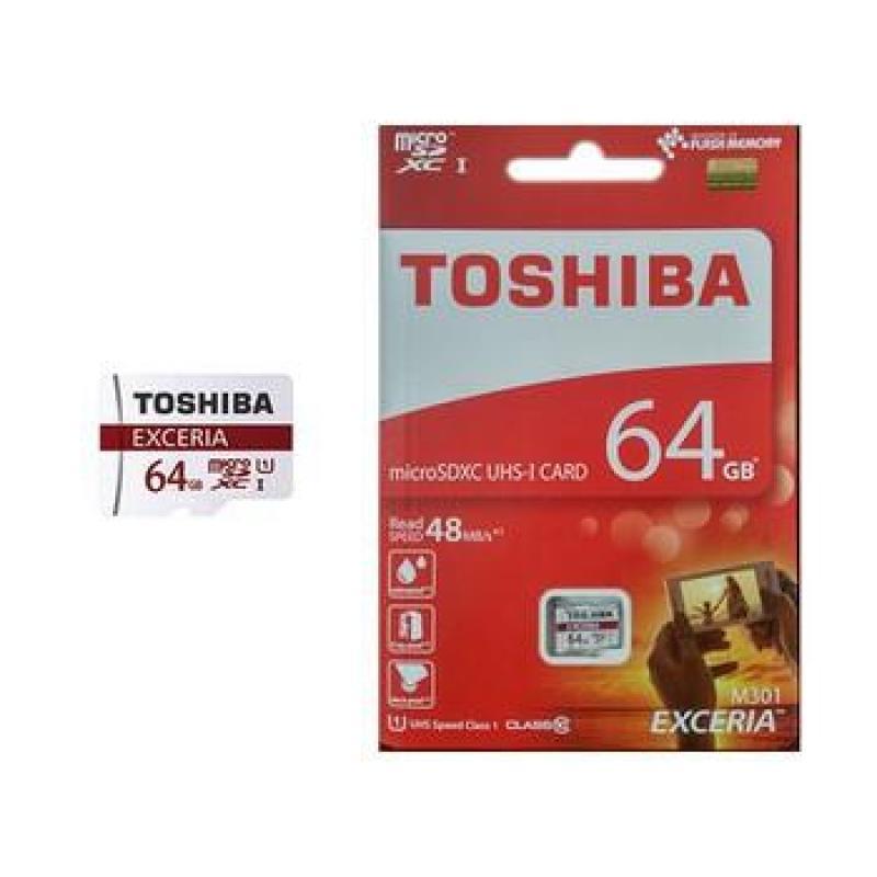 Thẻ Nhớ Micro SD Toshiba 64G Class 10 90MB Box Đỏ