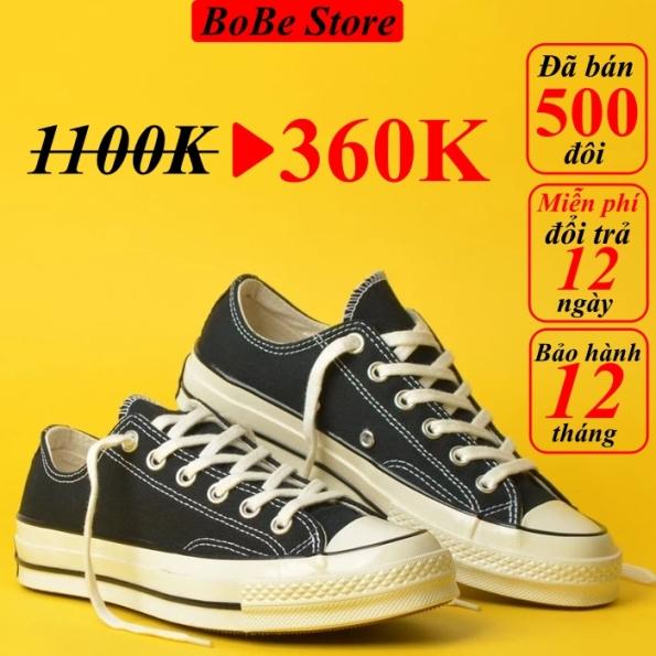 Giày Converse 1970s black low (giày thể thao converse 1970s màu đen thấp cổ+ Tặng túi converse+ Tặng tất+ Bill) giá rẻ