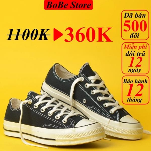 Giày Converse 1970s black low (giày thể thao converse 1970s màu đen thấp cổ+ Tặng túi converse+ Tặng tất+ Bill)