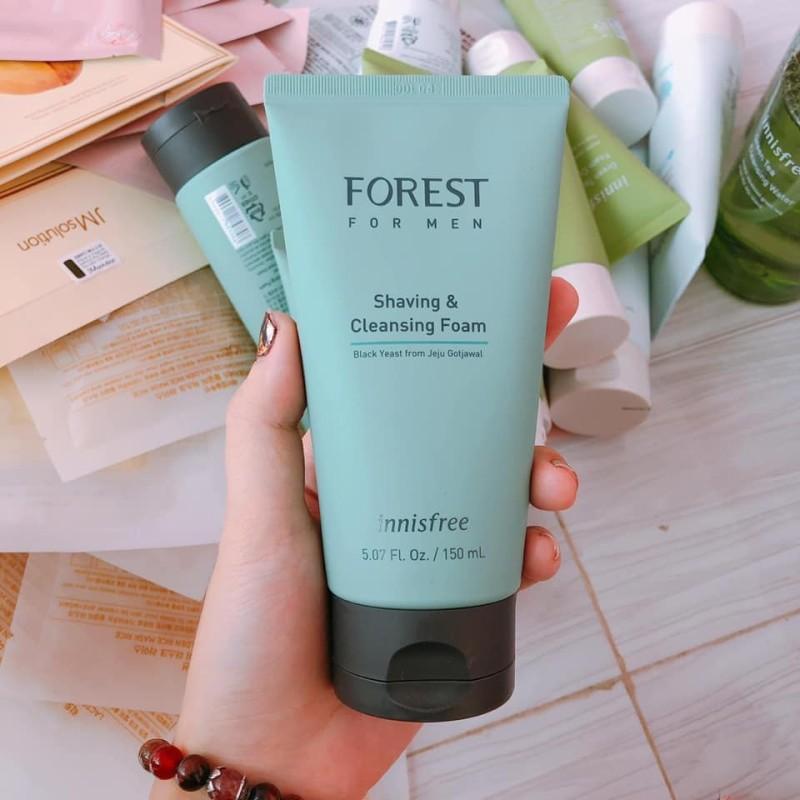 Sữa Rửa Mặt Dành Cho Nam Innisfree Forest For Men Shaving & Cleansing Foam 150ml giá rẻ