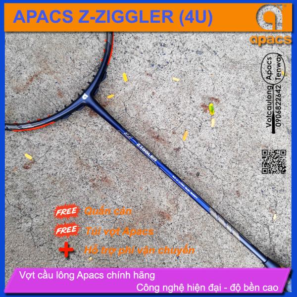[Vợt cầu lông Apacs Z-Ziggler 6.4mm - 4U] Vợt thân đũa 6.4mm linh hoạt phản công