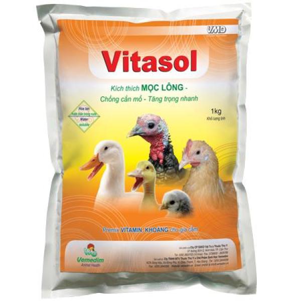 Kích thích mọc lông, tăng trọng, chống cắn mổ - Vitasol (Set 5 gói 100g), Vemedim