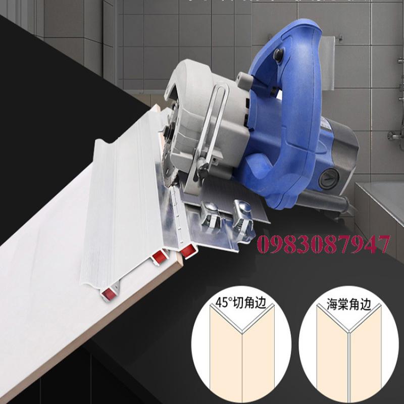 Bàn cắt mòi gạch men dụng cụ cắt clip cạnh 45 độ chân đế bàn cắt mòi cắt vát cạnh