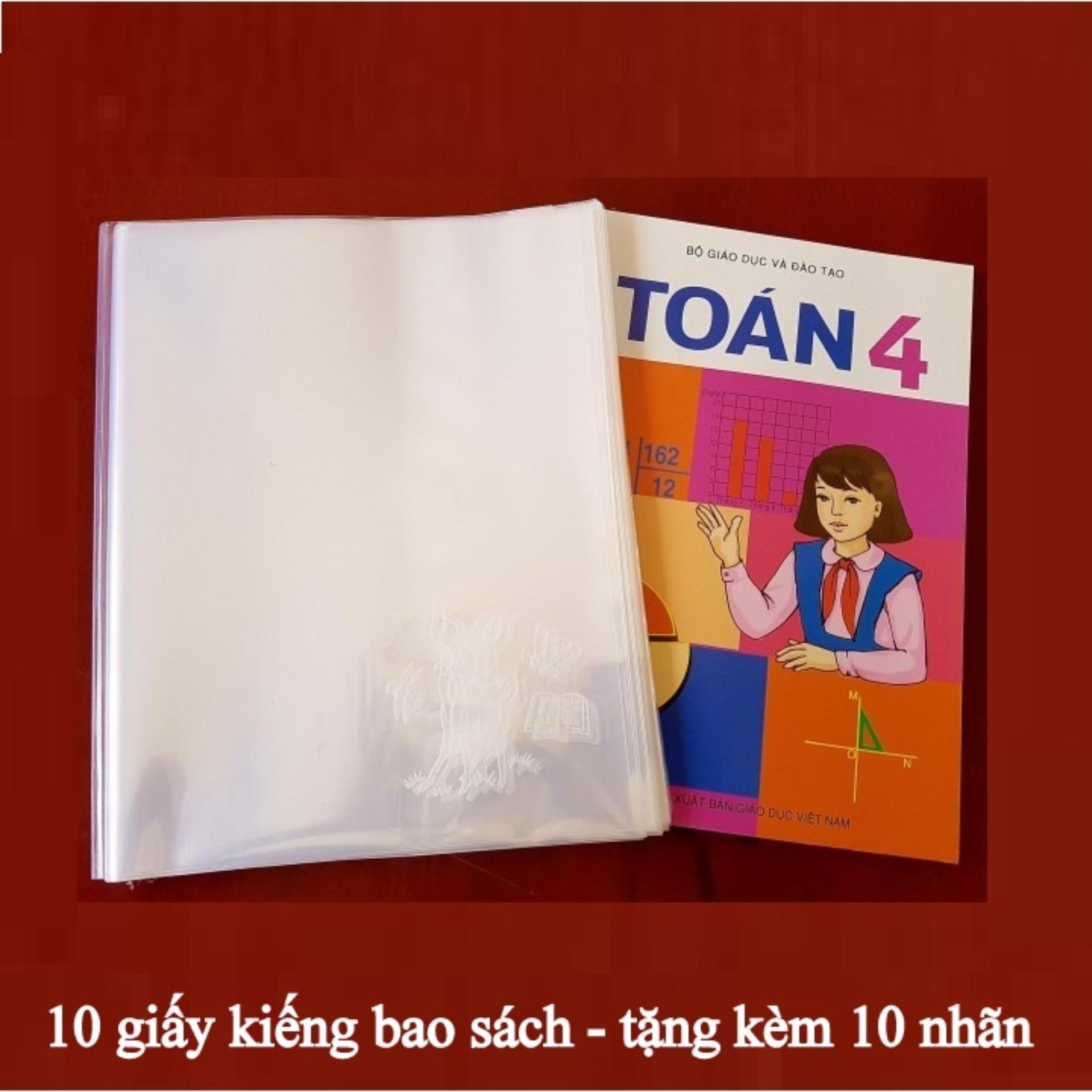 Mua 10 tờ kiếng bao sách loại dày - tặng kèm 10 nhãn nhỏ