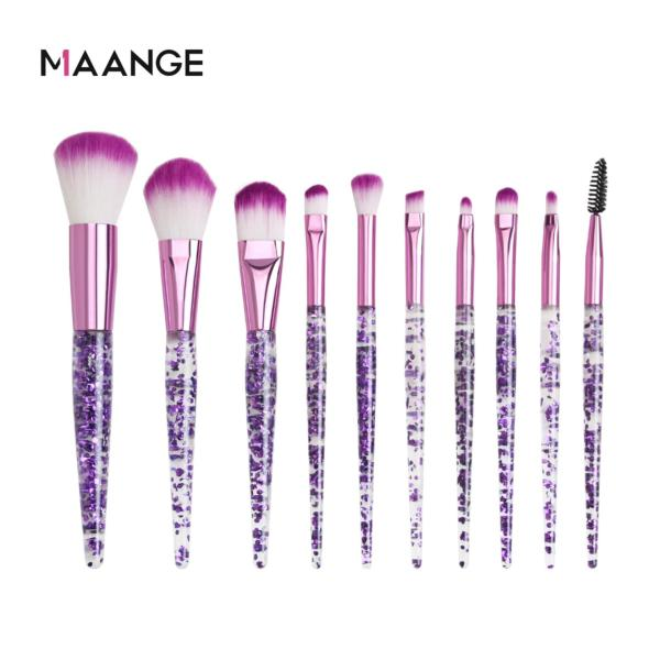 Bộ 10 cọ trang điểm MAANGE lông mềm dùng tán phấn nền/má hồng/mắt chuyên nghiệp - INTL