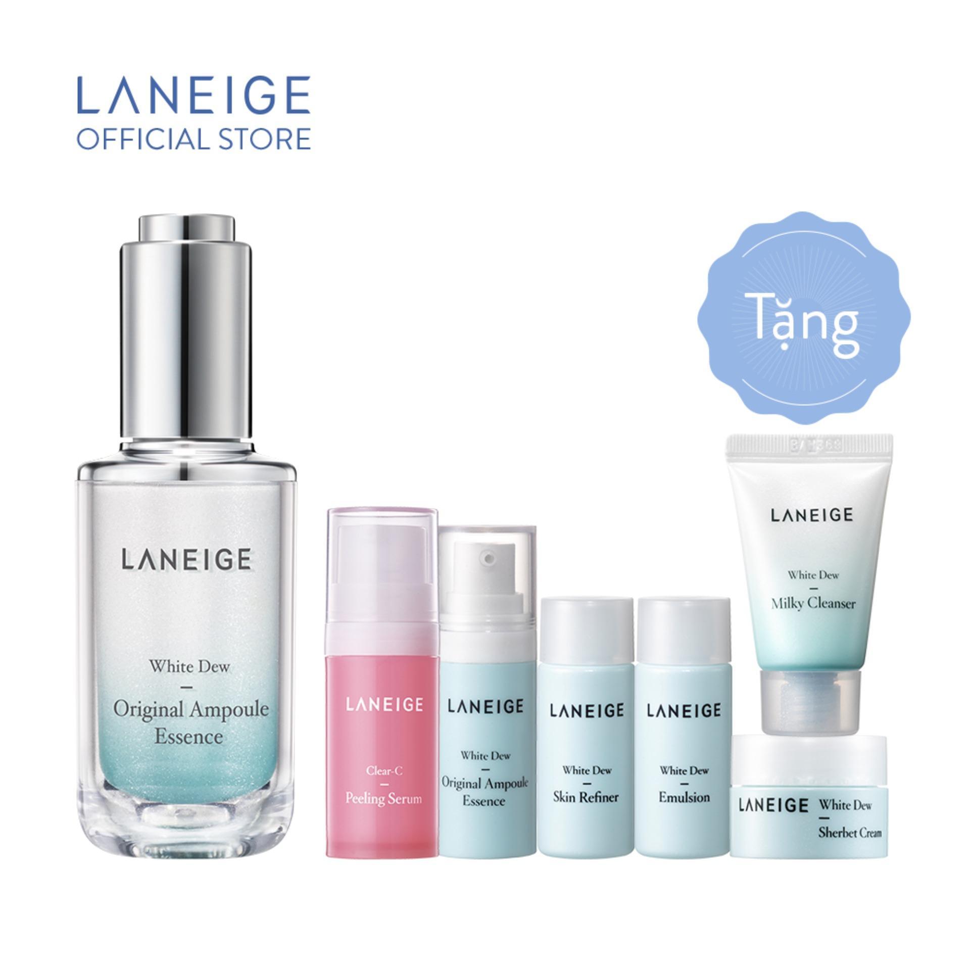 Tinh chất dưỡng trắng ngừa thâm nám Laneige White Dew Original Ampoule Essence 40ml tặng White Dew Trial Kit