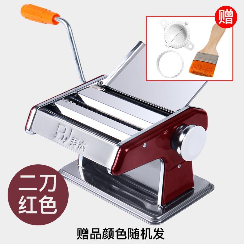BJ mesin mie rumah tangga Manual multifungsi model kecil Kulit Pangsit buatan tangan mesin pembuat mie baja anti karat engkol tangan menekan