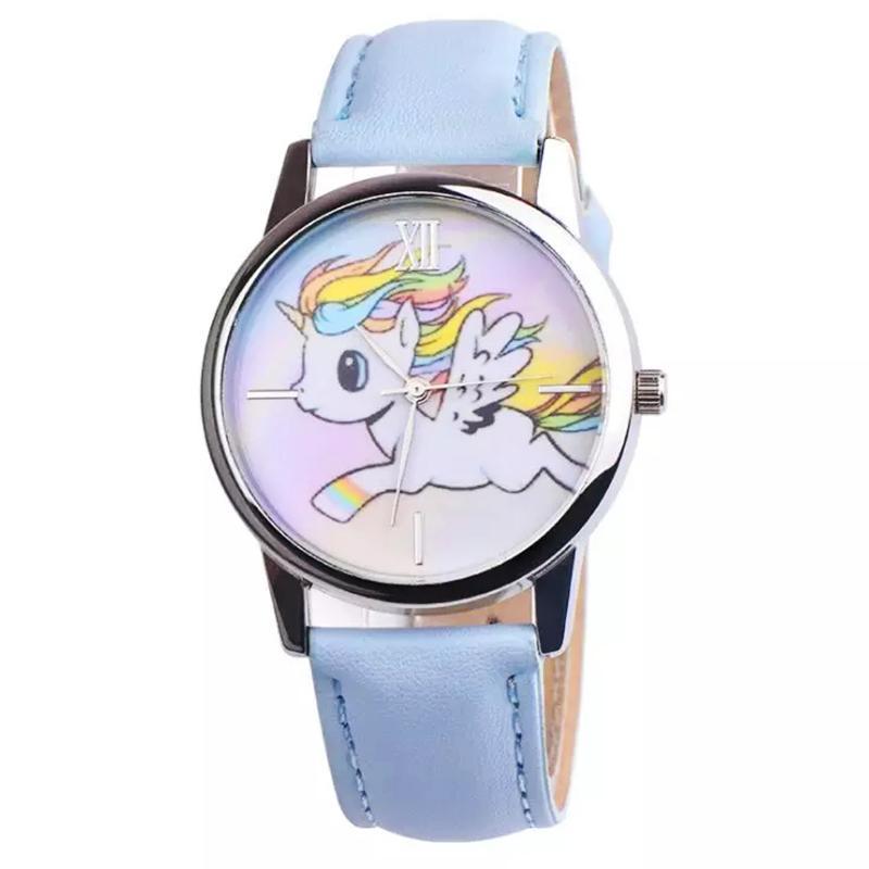 Đồng hồ đeo tay cho bé gái hình ngựa 1 sừng dây da cá tính BBShine  – DH006 bán chạy