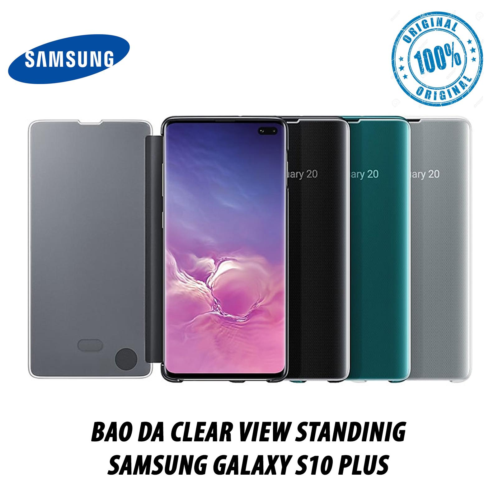 Offer Ưu Đãi Bao Da Clear View Standing Samsung Galaxy S10 Plus