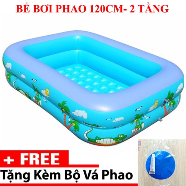 Bể bơi phao 2 tầng cho bé size 115x85x35cm - Bể bơi mini gia đình, be boi tre em, Bể bơi phao Cỡ lớn cho bé và gia đình - Bể bơi phao 3 tầng loại dày, bể bơi 1m8, be boi 180x140x50cm - BH UY TÍN 1 ĐỔI 1