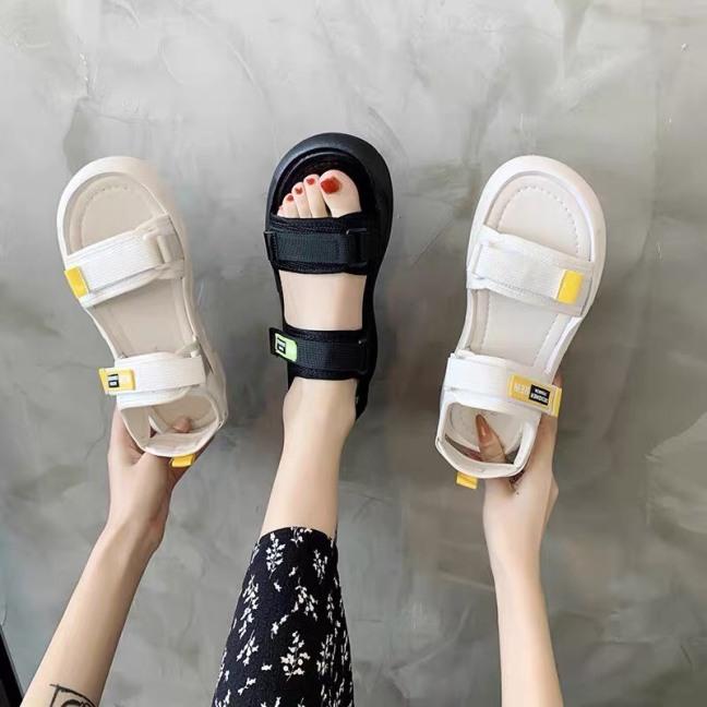Giày sandal, Dép quai hậu nữ 2 quai hàng thiết kế siêu nhẹ và êm chân, chống trơn trượt hàng đẹp giá siêu sốc, kiểu dáng thể thao mẫu hot 2021 giá rẻ