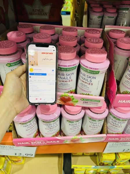 Kẹo dẻo Hair, Skin and Nails Gummies 230v chính hãng Mỹ giá rẻ