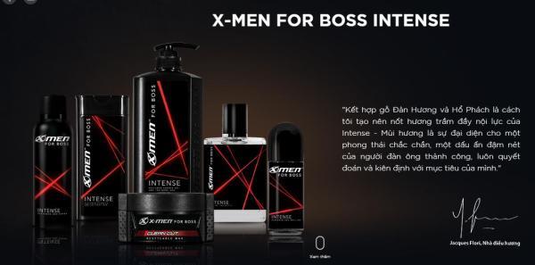 Trọn Bộ Sản Phẩm Xmen For Boss Intense
