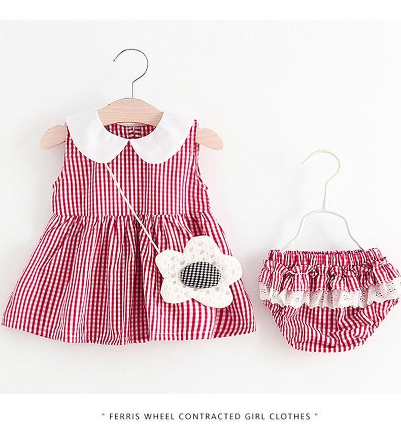 Giá bán Váy đầm kèm hoa đeo chéo cho bé gái