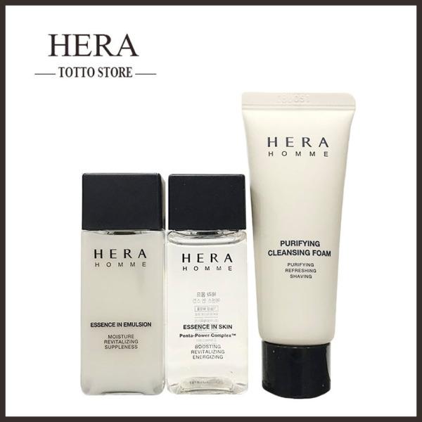 Bộ dưỡng da nam Hera Homme Essence in Skin Sample Set 65ml- Sữa rửa mặt nam, Nước hoa hồng và sữa dưỡng da Nam