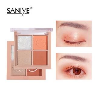 Bảng phấn mắt SANIYE 4 màu có nhũ, trang điểm mắt đáng yêu E0430 - INTL thumbnail