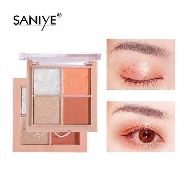 Bảng phấn mắt SANIYE 4 màu có nhũ trang điểm mắt đáng yêu E0430 - INTL