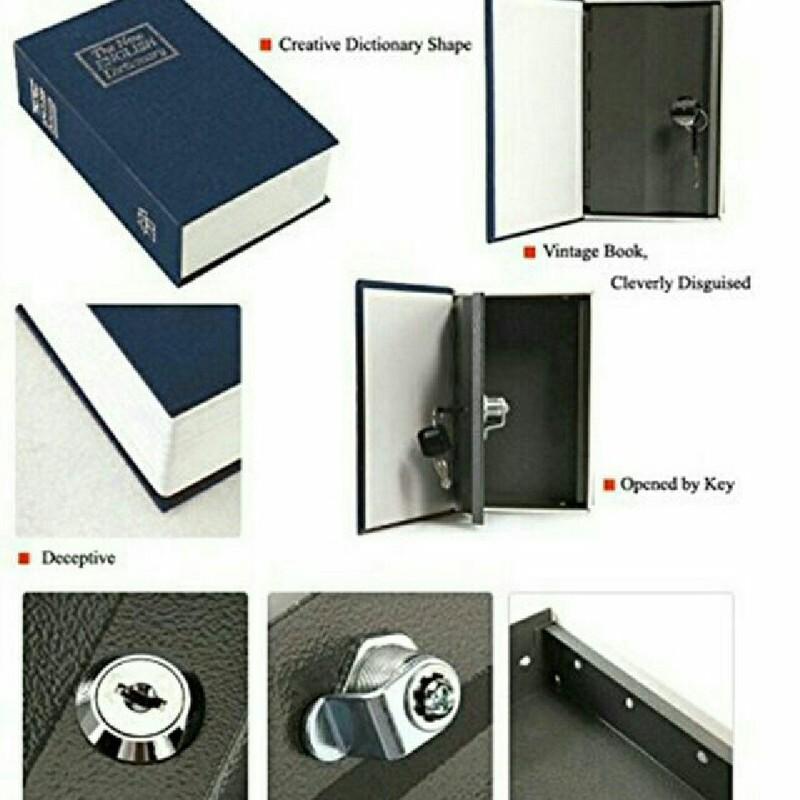 Két sắt cuốn từ điển khóa bằng chìa