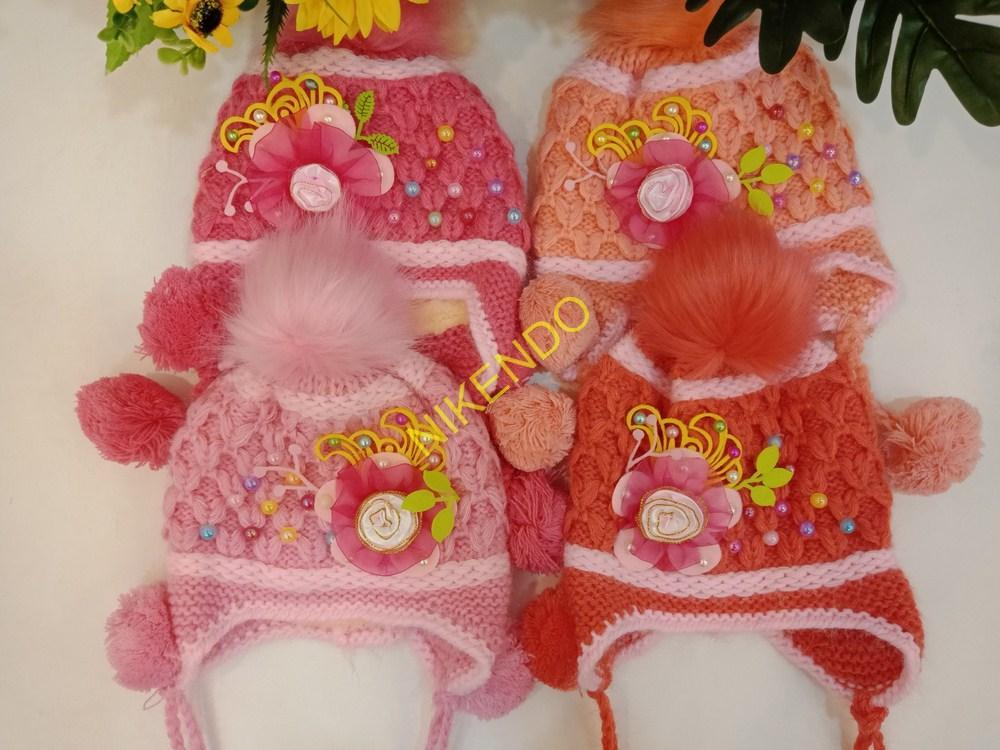 Mũ len cho bé, Mũ len bé gái có lớp lót bông bên trong