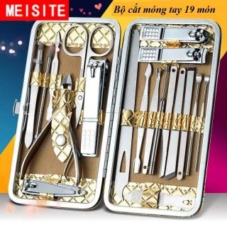 [Chọn Mã] Bộ kiềm cắt móng 15-18-19-20 món thép không gỉ, hộp da vàng rồng dạng ví cầm tay cao cấp thumbnail