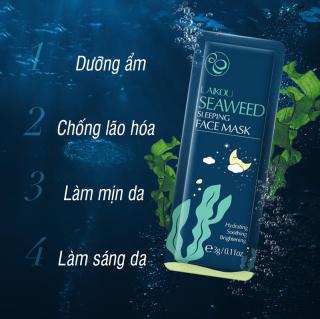 [2 miếng] Mặt nạ dưỡng da tinh chất tảo biển LAIKOU mặt nạ ngủ rong biển tái tạo phục hồi da mặt nạ chống lão hóa da mặt nạ ngủ dưỡng ẩm IW-MN213 thumbnail